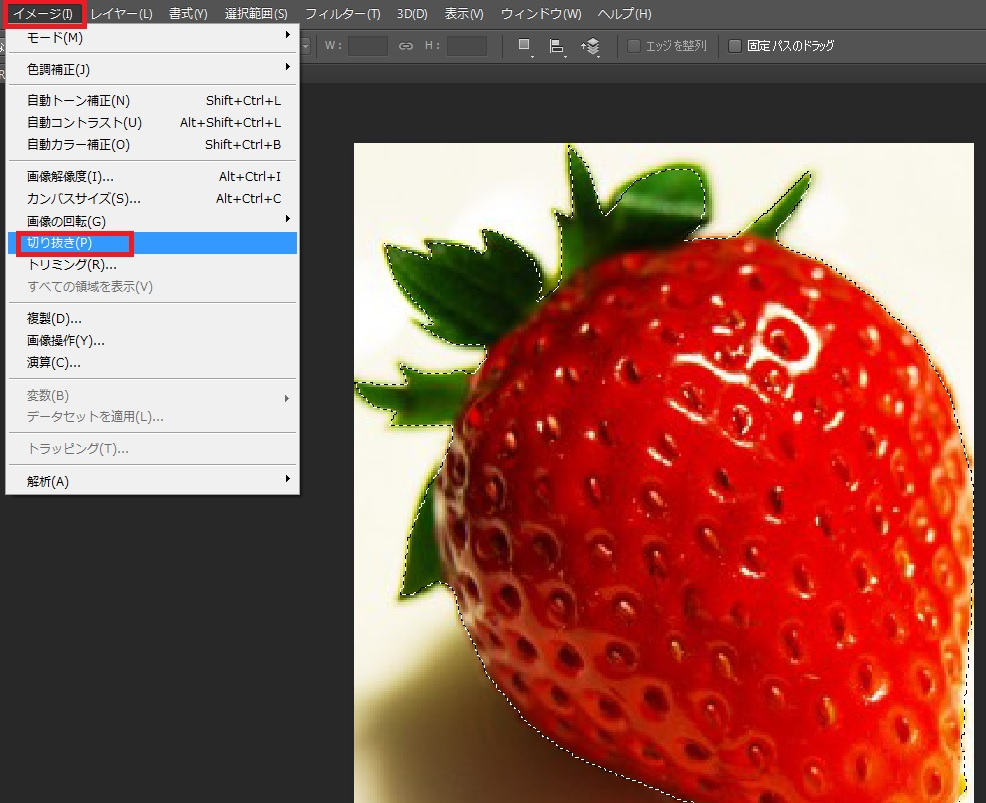 Photoshopで写真を切り抜いて Illustratorに配置する方法