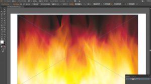 イラストレーターで文字の中に画像を画像を配置する方法