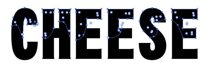 Illustratorで文字の一部の太さや色を変更しておしゃれなロゴを作成する方法
