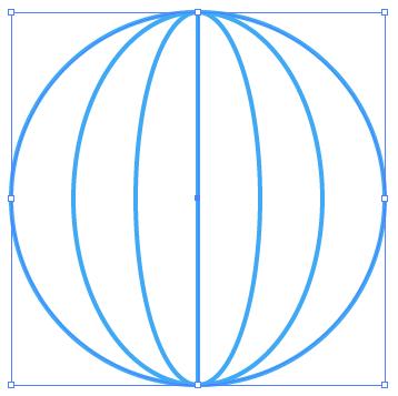 【Illustrator】簡単!ウェブアイコンのワイヤー地球マーク作成方法解説